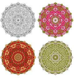Set mandala different color 42 vector