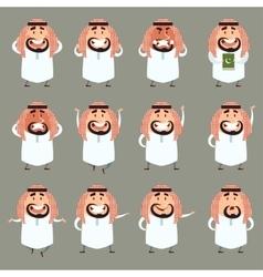 Set of cartoon muslim icons vector