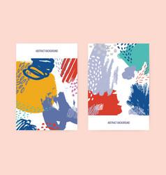 set of vertical flyer or postcard templates vector image