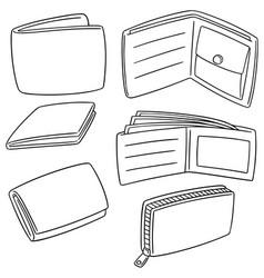 set of wallet vector image