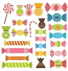 Set sweets vector
