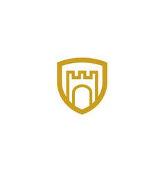 Shield castle logo vector