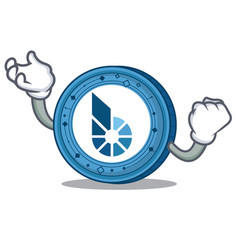 Successful bitshares coin character cartoon vector