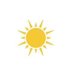sun icon - simple element vector image