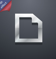 Text File document icon symbol 3D style Trendy vector