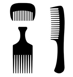 Three combs vector image