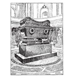 Tomb napoleon vintage vector