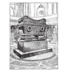 Tomb of napoleon vintage vector