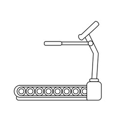 Treadmill fitness or sport related icon image vector