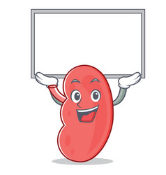 Up board kidney character cartoon style vector