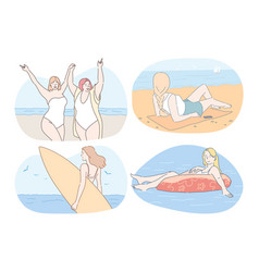 vacations traveling summer holidays near sea vector image