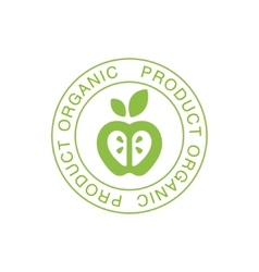 Vegan natural food green logo design template with vector