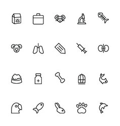 Veterinary Outline Icons 2 vector
