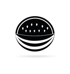 watermelon black fruit vector image