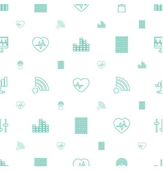 wave icons pattern seamless white background vector image