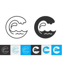 Wave water simple aqua drop black line icon vector