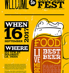 welcome to oktoberfest poster vertical vector image