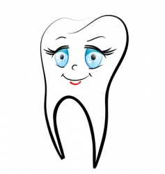 white teeth vector image