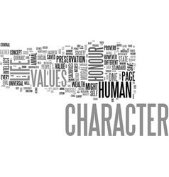 why do we lack character text word cloud concept vector image