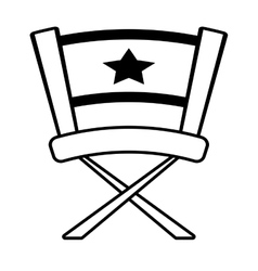chair star director film outline vector image