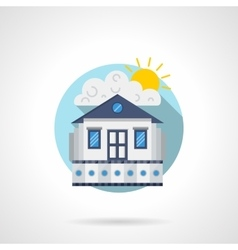 Cinema house color detailed icon vector image vector image