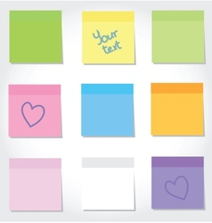 Colorful stickers vector image