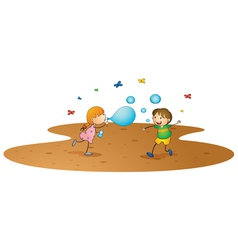 kids playing vector image vector image