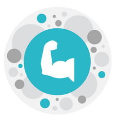 of active symbol on muscular vector image vector image