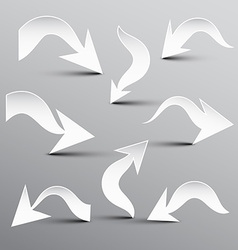 Paper Cut Arrow Arrows Set vector image