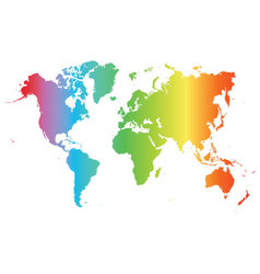World map colored vector image vector image