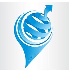 Conceptual eco icon vector image vector image