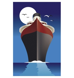 cruise ship cruise liner vector image