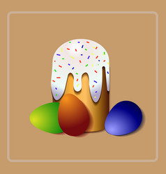 easter cake christian holiday orthodox easter vector image vector image