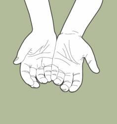 giving hands vector image