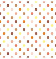 Tile polka dots on white background vector image vector image