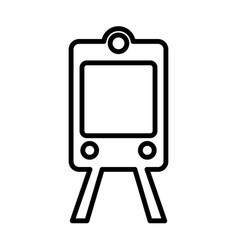 train subway line icon outline sign logo vector image vector image