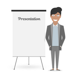 white board for the business presentation and vector image vector image
