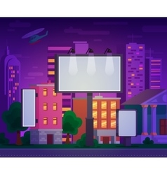 an advertising billboard vector image