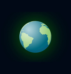 an our world planet single isolated with dark vector image vector image