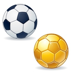 Gold Soccer Ball vector image vector image