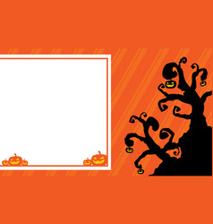 halloween background for greeting card vector image vector image
