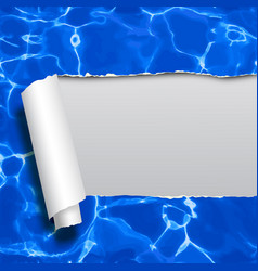 ripped paper with blue water not tracing seamless vector image