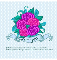 decorative rose vector image