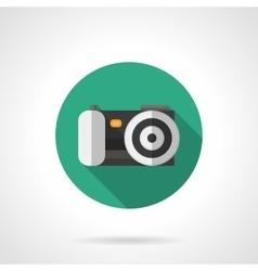 Digital camera round flat color icon vector image