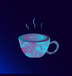 fluorescent hot coffee vector image vector image