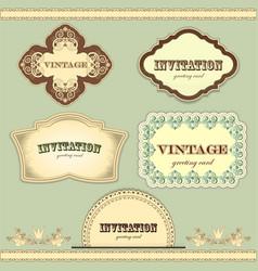 vintage labels set - vector image