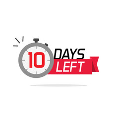 10 days left or to go sale countdown symbol vector
