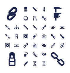 37 chain icons vector