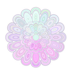 abstract floral mandala art - digital graphic vector image