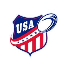 American rugball shield usa vector